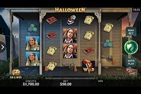 Image of the slot Halloween on a mobile device