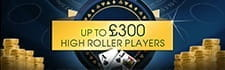 Alternative welcome bonus for high rollers at William Hill casino