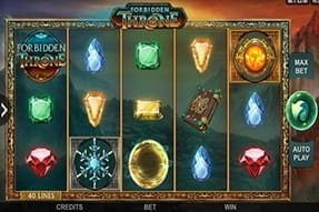 In-game action from the Forbidden Throne slot game.