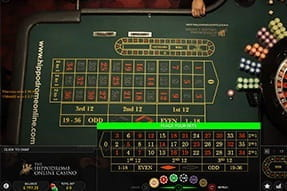 Live roulette streamed from the Hippodrome Grand Casino in London.