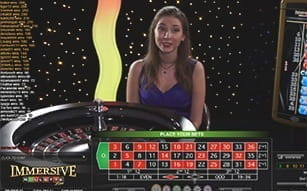 Immersive Roulette at LeoVegas live casino Immersive Roulette