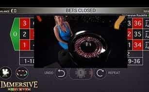 Immersive Roulette on-the-go at LeoVegas mobile casino.