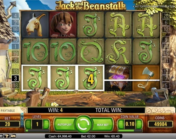 Image representing the Jack and the Beanstalk slot