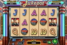 In-game view of the Jukepot slot