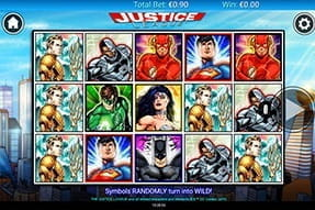 In-game image of Justice League slot on mobile