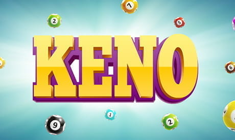 The word 'keno' surrounded by keno balls.