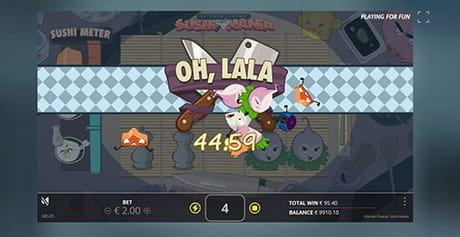 A special feature triggered in the Kitchen Drama Sushi Mania slot from Nolimit City