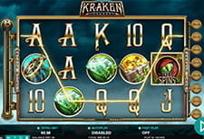 In-game view of the Kraken Conquest slot