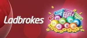 Das Ladbrokes-Logo und die Bingo-Bälle.