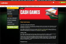 The Ladbrokes cash game interface.