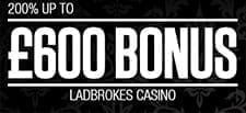 My exclusive Ladbrokes bonus gives 200% up to £600