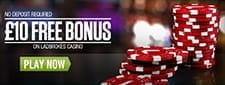 No deposit required, £10 for free at Ladbrokes casino