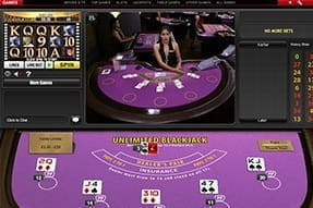 Unlimited Blackjack with live dealers at Ladbrokes casino