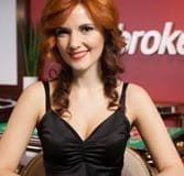 See Kandida dealing during live games at Ladbrokes Casino