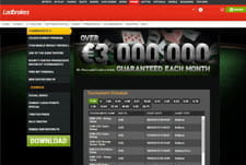 The Ladbrokes Poker tournament interface.
