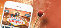 LeoVegas casino on a mobile phone