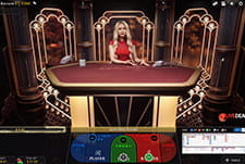 The Lightning Baccarat game by Evolution.