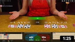 Here you can watch a video of live baccarat casino games.