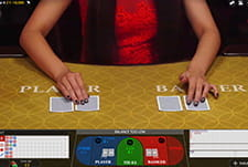 Play Baccarat live at Simba Gamescasino