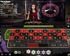 Image of a live roulette game at the bet-at-home casino.