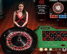 Image of a live roulette game at the Betsafe casino.