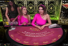 Play Blackjack Party live at LuckyMe Slots casino