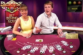 A Blackjack Party table at William Hill live casino.