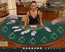 Live blackjack at William Hill casino.