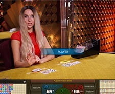 Image of a live baccarat game at bwin casino