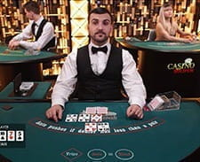 Image of a live casino poker game at bwin casino