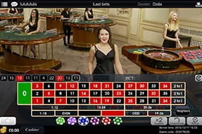 Live games such as roulette are available on the Ladbrokes Casino app