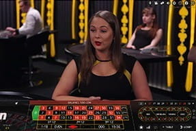 An image of a live roulette game on mobile