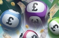 Lottery balls in different colours