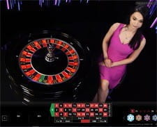 Live roulette being played at the Mansion Casino.
