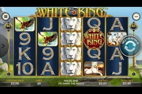 Mobile version of the White King slot.