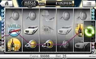 The Mega Fortune mobile slot at LeoVegas casino.