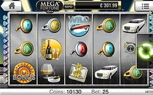 The progressive slot Mega Fortune can be played on the Mr Green app