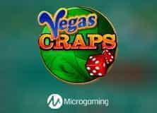 Le logo du jeu de craps Microgaming Vegas.