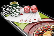 An online casino on a mobile device.