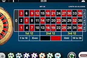 Mobile classic roulette at the William Hill mobile casino.