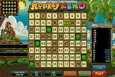 A smaller image of the Monkey Keno game at Sloty.