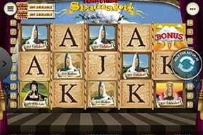 Monty Python's Spamalot slot on the William Hill casino app.