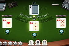 The cards of the Multi-Hand Blackjack game by iSoftbet at Greenplay.