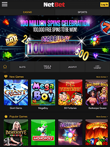 Game Selection on the Netent Casino App