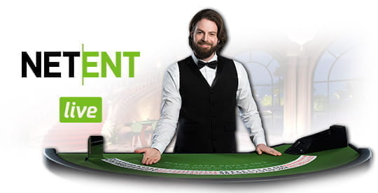 A live casino dealer from NetEnt.