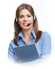 A customer services staff member.