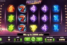 A smaller in-game image of the Starburst slot game at Novibet.