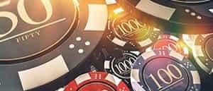 An online poker bonus image consisting of poker chips.