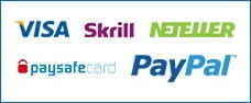 The payment options available on the Betfair app; Visa, Skrill Neteller, PayPal and paysafecard.