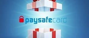 The paysafecard logo coming out of a box.